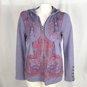Free People Purple Haze zip up hoodie.         010